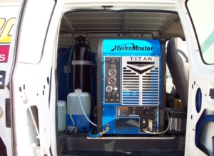 van mounted carpet cleaning